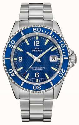 Delma Quartz de Santiago   bracelet en acier inoxydable   cadran bleu 41701.562.6.044