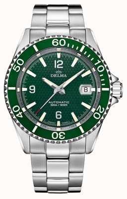 Delma Santiago automatique | bracelet en acier inoxydable | cadran vert 41701.560.6.144