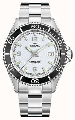 Delma Santiago automatique | bracelet en acier inoxydable | cadran blanc 41701.560.6.014