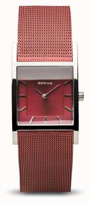 Bering Classique femme | argent poli | bracelet en maille bleue 10426-303-S