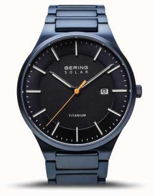 Bering Titane pour hommes | bleu brossé | bracelet en titane bleu 15239-797