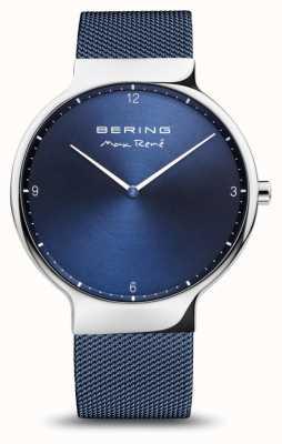 Bering Max rené | argent poli | sangle en maille bleue 15540-307