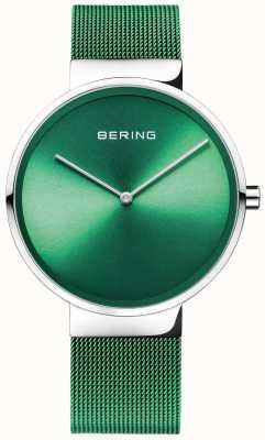 Bering Classique | sangle en maille verte | cadran vert 14539-808