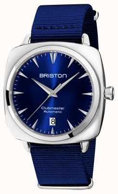 Briston Clubmaster iconic auto | bracelet nato bleu | cadran bleu 19640.PS.I.9.NNB