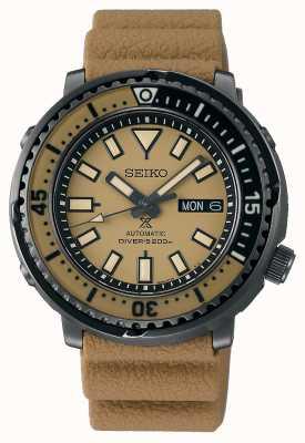 Seiko Rue Prospex | bracelet en silicone marron pour homme | cadran marron SRPE29K1