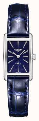 Longines Dolce vita | femmes | quartz suisse | cuir bleu L52554932