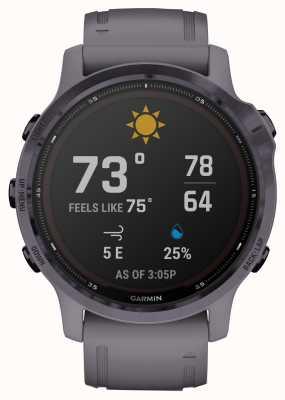 Garmin Fenix 6s pro solaire | améthyste avec bracelet gris schiste 010-02409-15