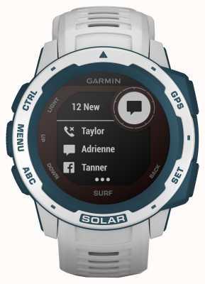 Garmin Bracelet en caoutchouc Instinct Solar GPS Surf Edition Cloudbreak 010-02293-08