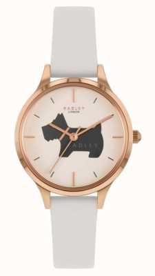 Radley Place Meridan | bracelet en cuir crème | cadran à motif de chien RY2976