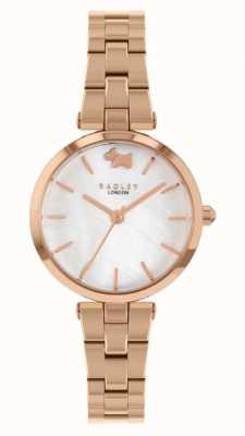 Radley Vue ouest | bracelet en acier or rose | cadran blanc RY4510