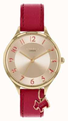 Radley | route saxonne | bracelet en cuir rouge | cadran argenté | RY2968