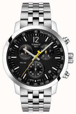 Tissot Prc 200 | chronographe | cadran noir | acier inoxydable T1144171105700