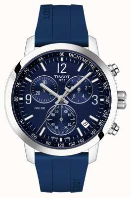 Tissot Prc 200 | chronographe | cadran bleu | bracelet en caoutchouc bleu T1144171704700