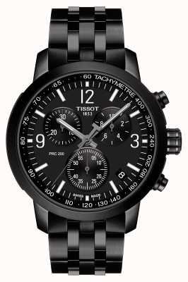 Tissot Prc 200 | chronographe | cadran noir | acier pvd noir T1144173305700