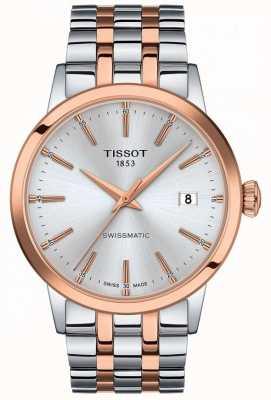 Tissot Swissmatic | cadran argenté | bracelet en acier inoxydable bicolore T1294072203100