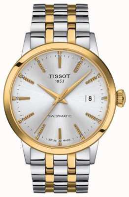 Tissot Swissmatic | bracelet en acier inoxydable bicolore cadran argenté T1294072203101