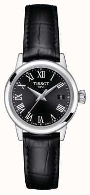 Tissot Femmes | rêve classique | cadran noir | bracelet en cuir noir T1292101605300