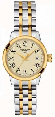 Tissot Femmes   rêve classique   cadran champagne   acier inoxydable bicolore T1292102226300