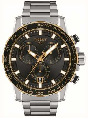 Tissot Chrono Supersport | cadran noir | bracelet en acier inoxydable T1256172105100