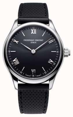 Frederique Constant Hommes | vitalité | smartwatch | cadran noir | Caoutchouc noir FC-287B5B6