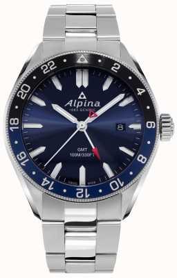 Alpina Alpiner quartz gmt | cadran bleu | bracelet en acier inoxydable AL-247NB4E6B