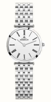 Michel Herbelin | femmes | epsilon | bracelet en acier inoxydable | cadran blanc | 17116/B01N
