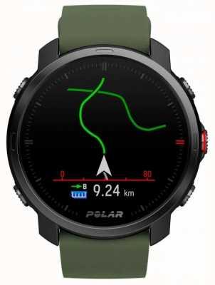 Polar | grain x | édition limitée | étui noir | silicone vert | bracelet en e 90084210