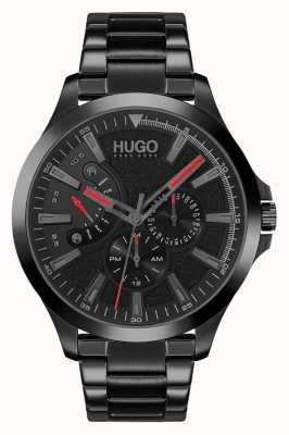 HUGO #leap occasionnel | cadran noir | bracelet ip noir 1530175