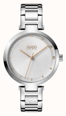 HUGO Mesdames #hope casual | cadran argenté | bracelet en acier inoxydable 1540076