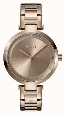 HUGO Mesdames #hope casual | cadran beige | bracelet en acier ip beige 1540077