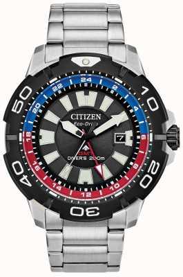 Citizen Homme Promaster Diver gmt | cadran noir en acier inoxydable | accent bleu et rouge BJ7128-59E