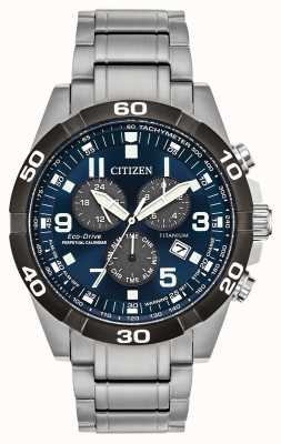 Citizen Montre Brycen Super Titanium quantième perpétuel cadran bleu BL5558-58L