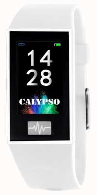 Calypso Unisexe | smartime | bracelet en silicone blanc + bracelet gratuit K8500/1