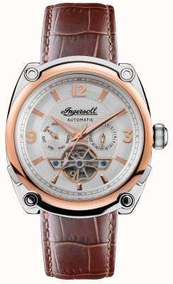 Ingersoll Le michigan | hommes | bracelet en cuir marron | cadran blanc I01103B