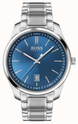 BOSS Circuit sport lux   bracelet en acier inoxydable   cadran bleu 1513731
