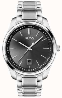BOSS Circuit sport lux   bracelet en acier inoxydable   cadran noir 1513730