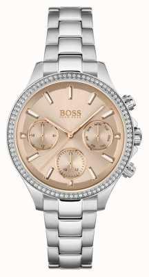 BOSS Femmes hera | bracelet en acier inoxydable | cadran rose 1502565