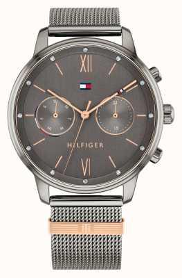 Tommy Hilfiger | femmes | blake | bracelet en maille gris bronze | cadran bronze | 1782304