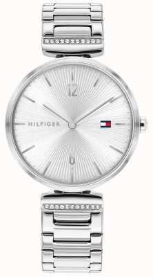 Tommy Hilfiger | femmes | aria | bracelet en argent en acier inoxydable | cadran argenté | 1782273