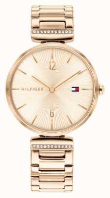 Tommy Hilfiger | femmes | aria | bracelet en acier or rose | cadran en or rose | 1782271
