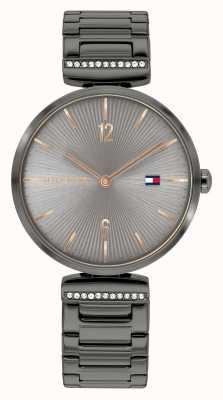 Tommy Hilfiger | femmes | aria | bracelet en acier gris bronze | cadran gris | 1782276