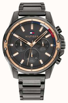 Tommy Hilfiger | hommes | maçon | bracelet en acier gris bronze | cadran gris | 1791790