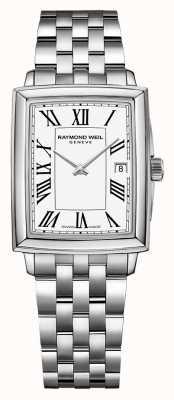 Raymond Weil Toccata pour femmes | bracelet en acier inoxydable | cadran blanc 5925-ST-00300