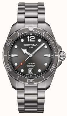 Certina Action Ds | bracelet en titane | cadran gris | cosc C0324514408700