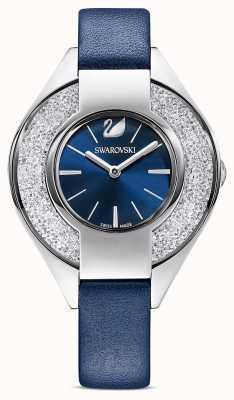 Swarovski | sportif cristallin | bracelet en cuir bleu | cadran bleu | 5547629