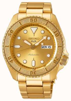 Seiko Bracelet doré pour homme 5 Sport Cadran doré SRPE74K1