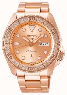 Seiko Or rose | hommes | automatique | sports | bracelet SRPE72K1