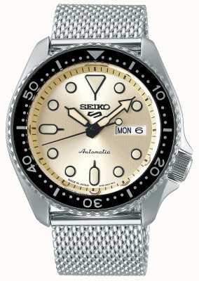 Seiko Automatique | hommes | sports | bracelet en maille | crème SRPE75K1