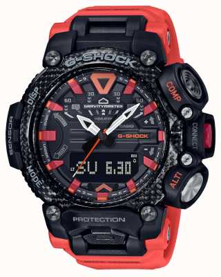 Casio G-shock | gravitymaster | noyau de carbone | bluetooth | Orange GR-B200-1A9ER