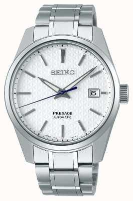Seiko Presage | hommes | Shrioneri cadran blanc | automatique | série de bord tranchant SPB165J1
